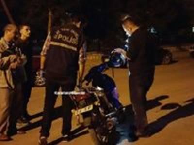 Polisin Dikkati Motosikleti Kurtardı