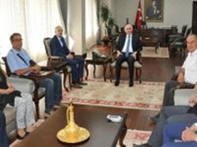 Karaman Valisi Fahri Meral'e Baro Başkanı Yılmaz'dan Ziyaret