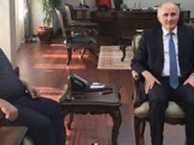 Milletvekili Şeker, Karaman Valisi Fahri Meral'i Ziyaret Etti
