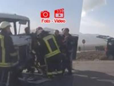 Çoğlu'dan Karacaören'e Giden Okul Servisi Kaza Yaptı