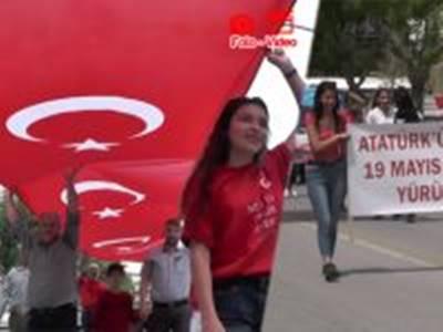 Karaman'da Atatürk'ün İzinde 19 Mayıs Gençlik Yürüyüşü Düzenlendi
