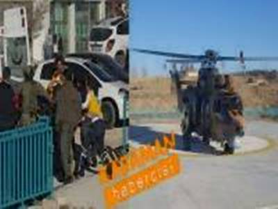 Karaman Devlet Hastanesine Helikopterle Getirildi