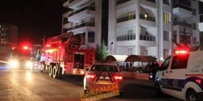 Karaman'da Yangın Paniği