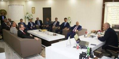 Başkan Çalışkan'a Muhtarlardan Ziyaret