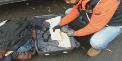 Aksaray'da Bagajdaki Valizde 3 Kilo Eroin Ele Geçirildi