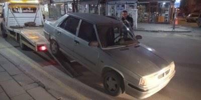 Aksaray'da Ters Yolda Yakalanan Sürücünün Aracına El Konuldu