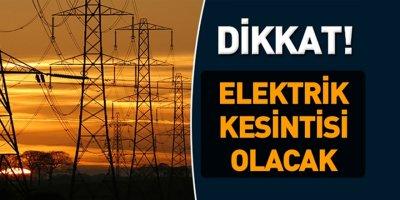Karaman'da Planlı Elektrik Kesintileri Olacak