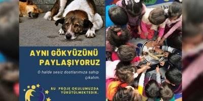 """Karaman Mehmet Çavaş İlkokulunda """"Aynı Gökyüzünü Paylaşıyoruz""""Projesi"""