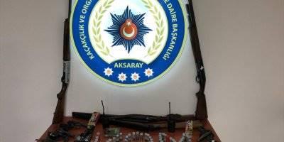 Aksaray'da Kaçak Silah Operasyonu