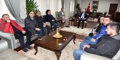 Tarım ve Orman Bakanlığı Tarım Reformu Genel Müdürlüğü Heyetinden Karaman Valisi Fahri Meral'e Ziyaret