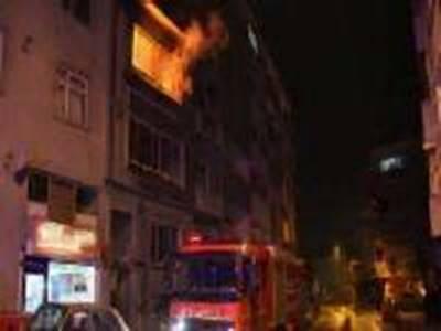 Konya'da Çıkan Yangın Korkuttu