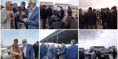Saadet Partisi Belediye Başkan Adayı Şaban Şahin Hayvan Pazarını Ziyaret Etti