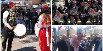 """""""Ehline Emanet"""" Gazetesi Karaman'da Davullu Anonslarla Dağıtıldı"""