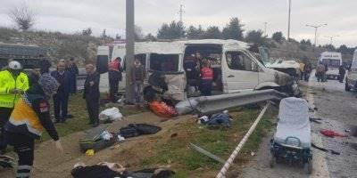 Mersin'de Feci Kazada:1 Ölü, 11 Yaralı