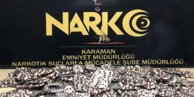 Karaman'da Baş Döndüren Uyuşturucu Hap Ticareti
