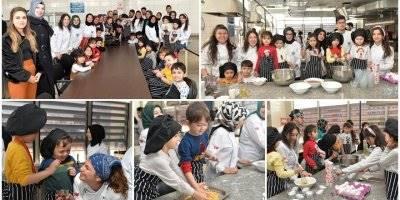 KMÜ'de Gastronomi ve Aşçılık Öğrenci Topluluğu Üyeleri İle Minikler Topluluğu Bir Arada