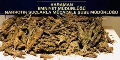 Karaman-Mut Kara Yolunda Kovalamacalı Uyuşturucu Operasyonu