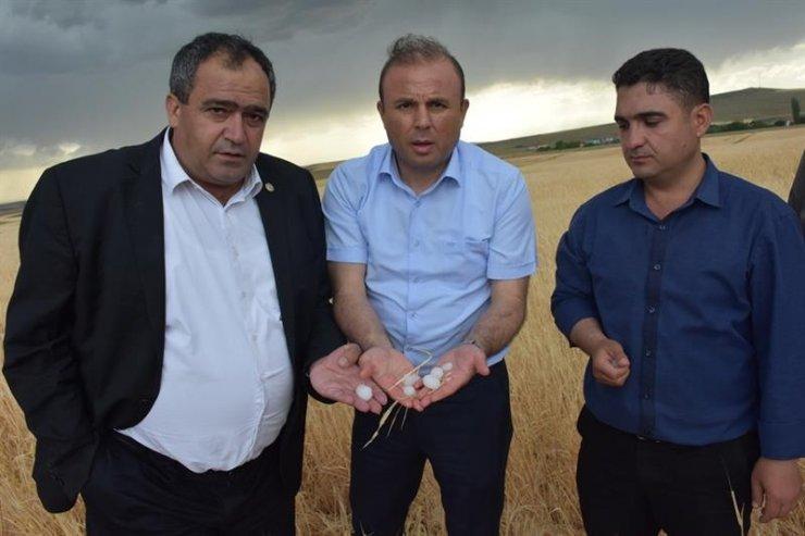 Konya'dan Sonra Aksaray'da Tarım Arazileri Doludan Zarar Gördü