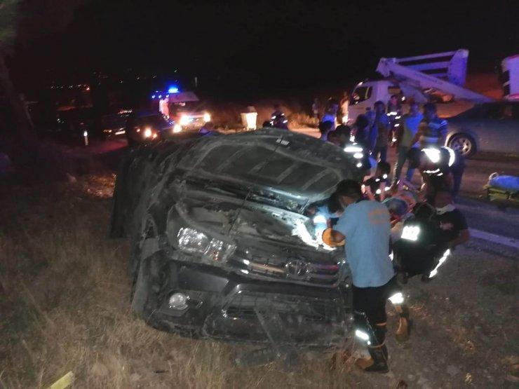 Mut'ta Trafik Kazası; 2 Yaralı