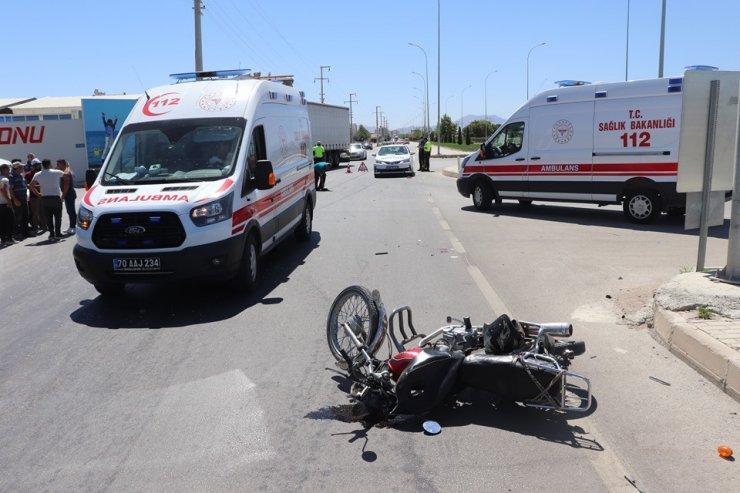 Karaman'da Adım Adım Kayda Giren Trafik Kazası