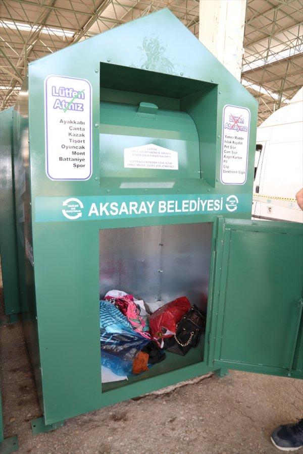 Aksaray Belediyesinden Giysi Kumbarası Projesi