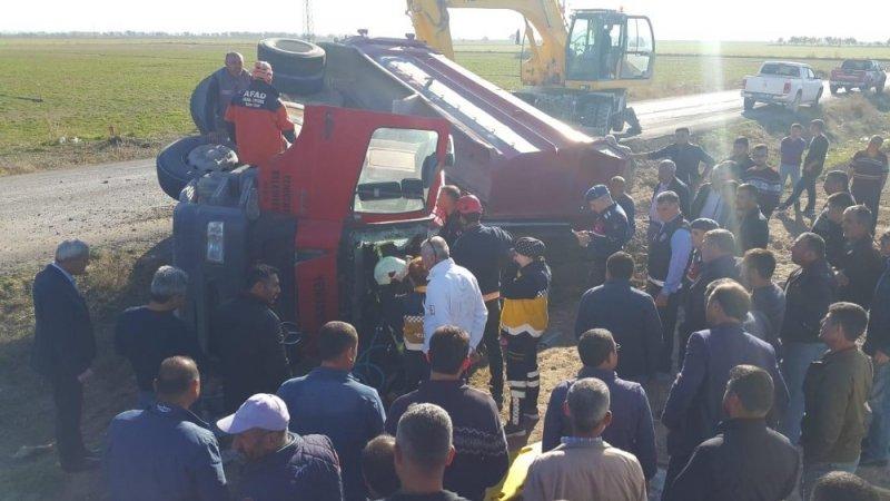 Aksaray'da Kamyon Devrildi: 1 Yaralı