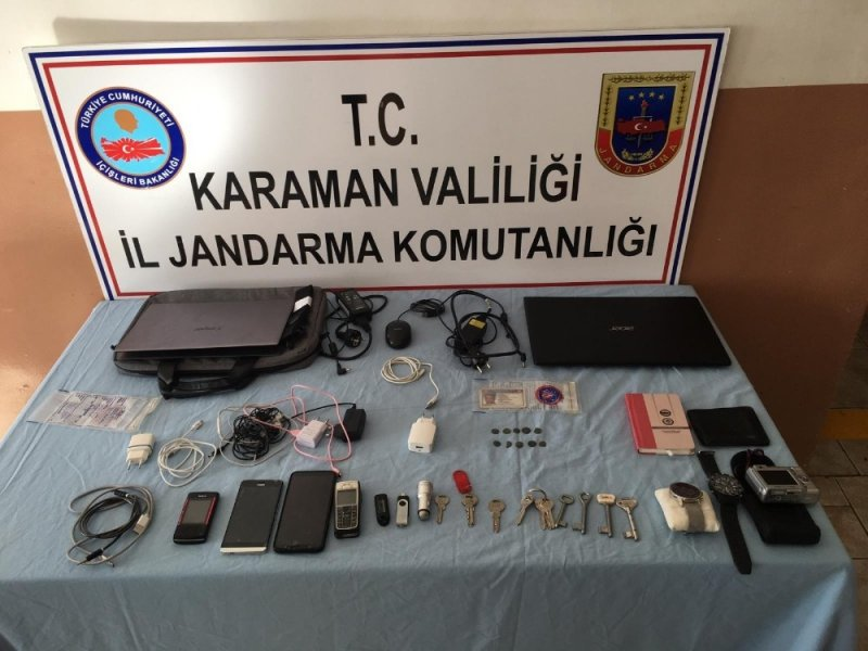 Karaman'da Okulda Hırsızlık Güvenlik Kamerasında