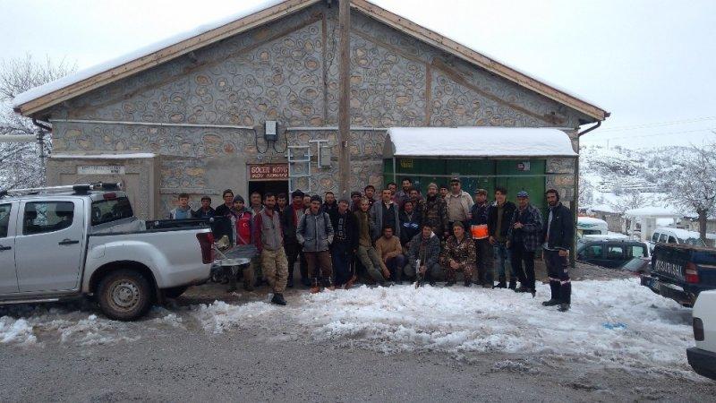 Karaman'da Avcılar Yaban Domuzu Mesaisinde