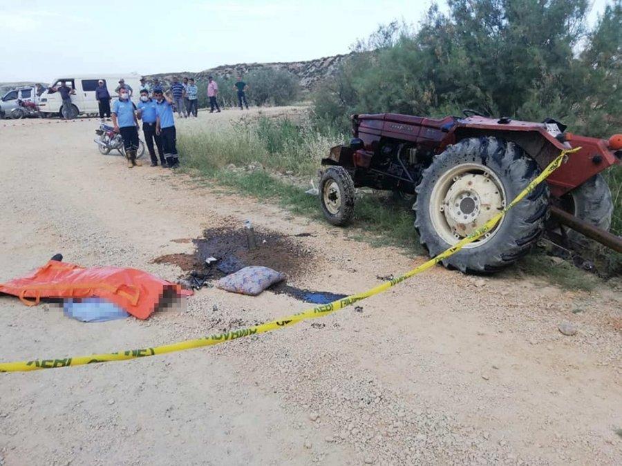 Mut'ta 2 Traktör Kazası: 1 Ölü, 2 Yaralı