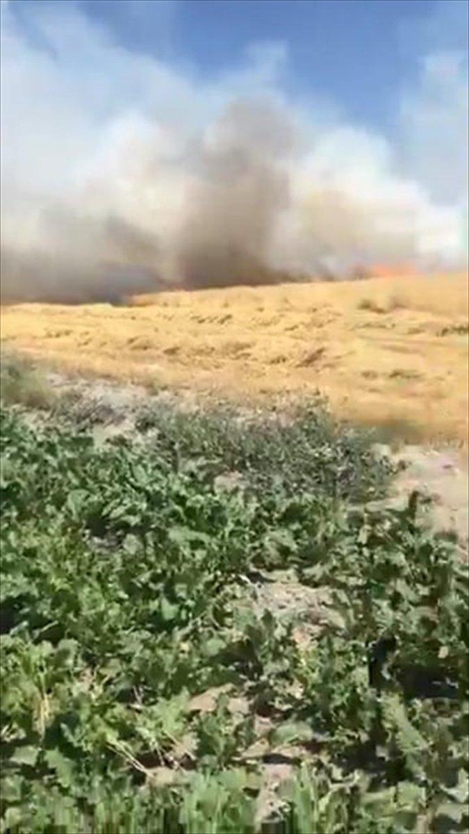Karapınar'da Tarım Arazisinde Yangın