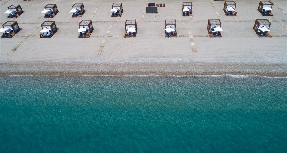 Antalya'da Plajlarda Korona İçin Çözümler