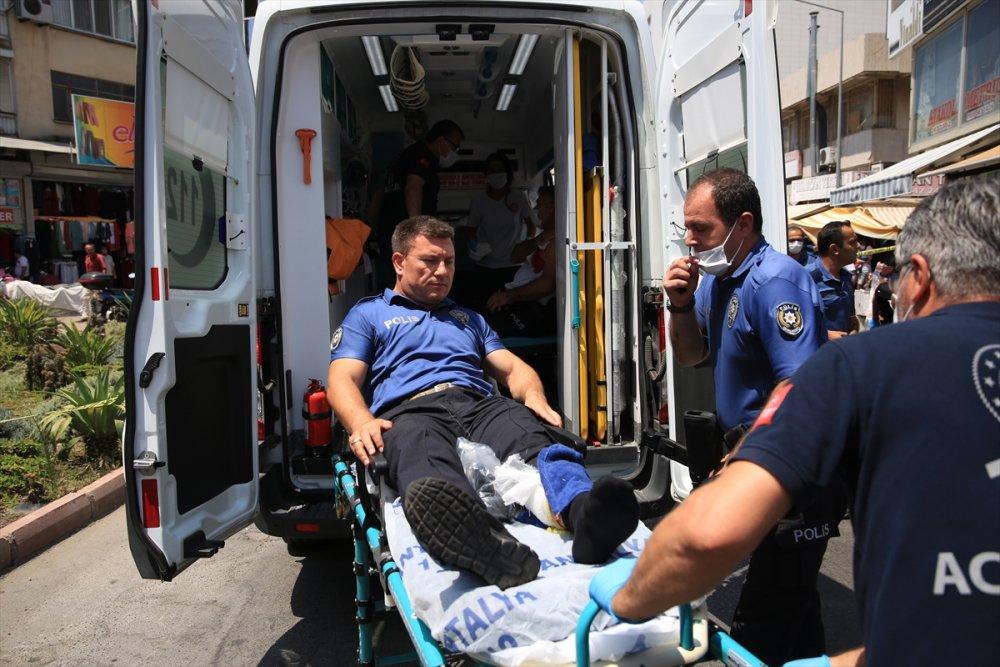 Antalya'da Polise Saldıran Zanlı Vurularak Durduruldu