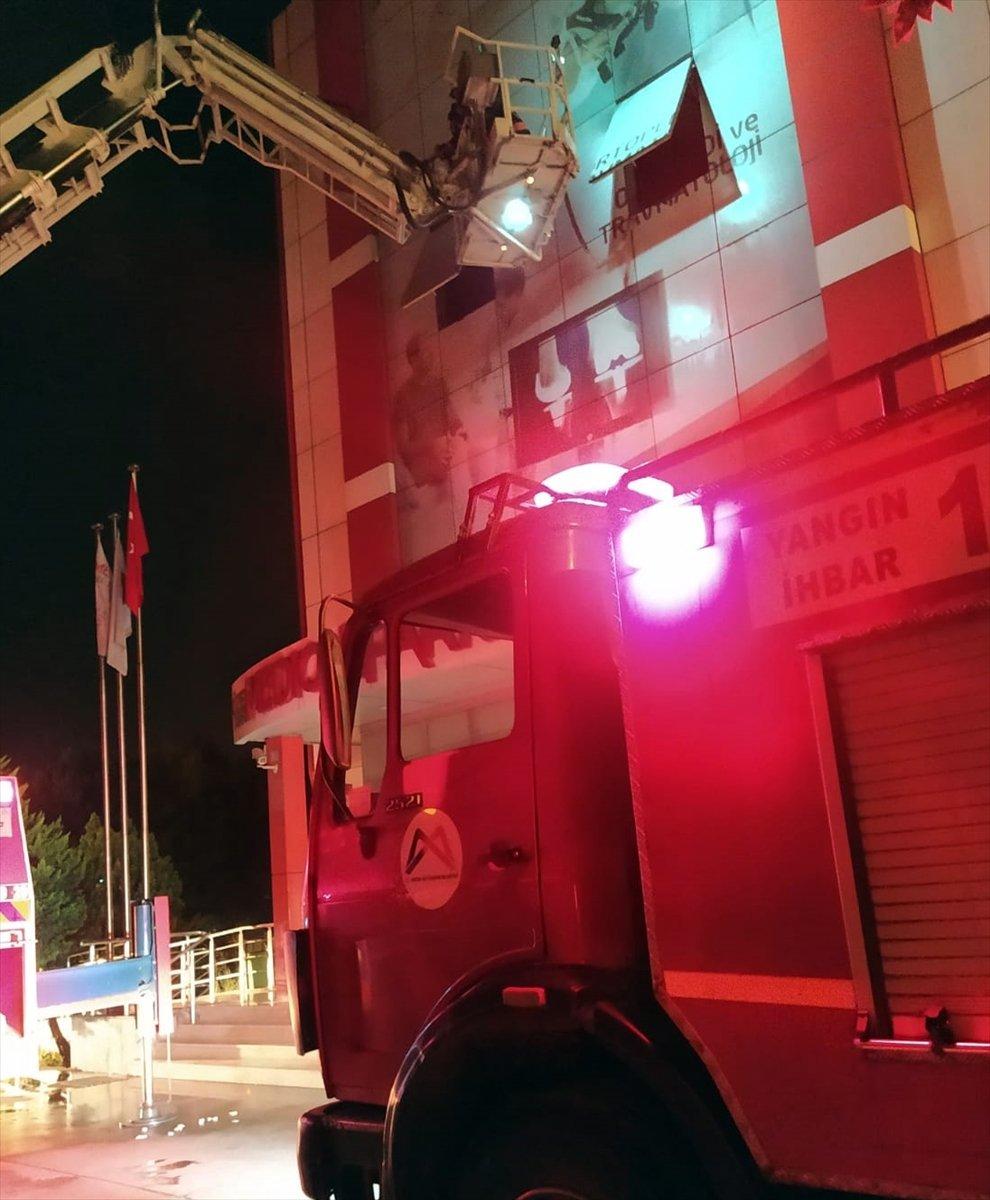 Mersin'de Özel Hastanede Çıkan Yangın Korkuttu