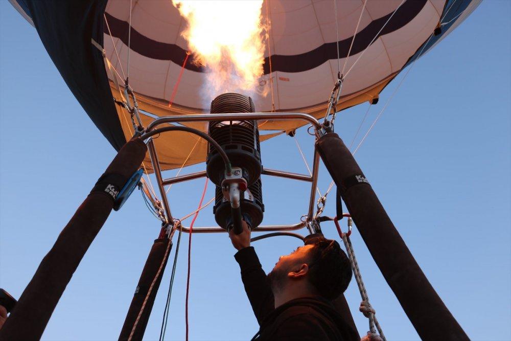 Beyşehir Semalarında Balon Uçuşu Denemesi