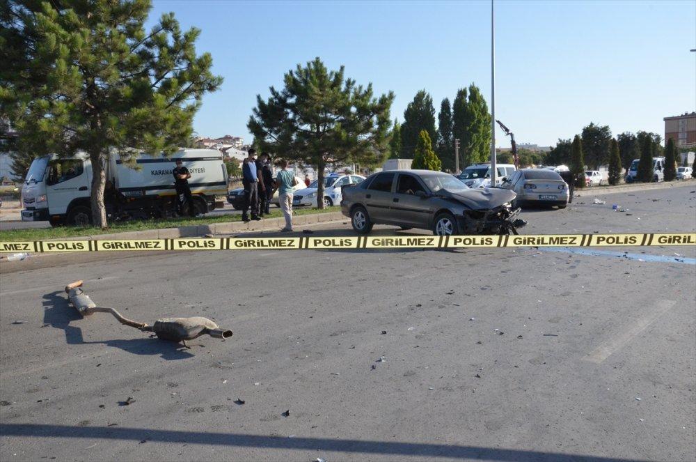 Karaman'da Üniversite Yolunda Trafik Kazası