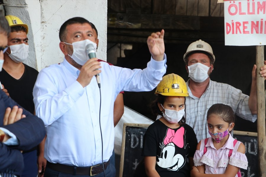 Ermenek'te Maden İşçilerinden İş Bırakma Eylemi