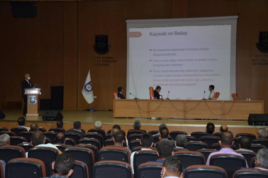Köy Muhtarlarına Kovid-19 Semineri Düzenlendi