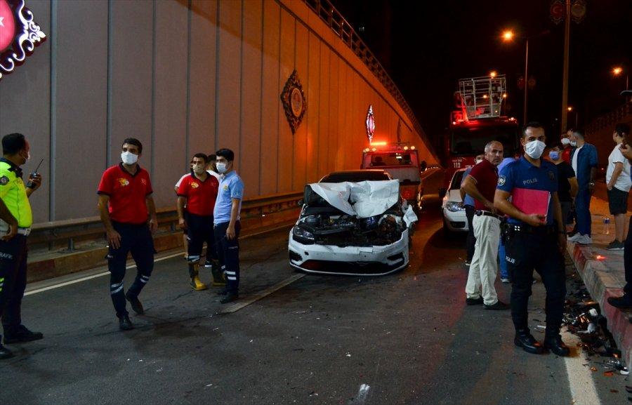 Mersin'de 5 Aracın Karıştığı Kazada 1 Kişi Yaralandı