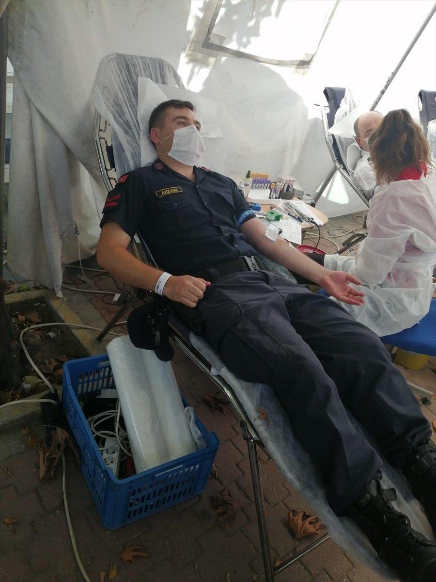 Alanya'da Jandarmadan Kan Bağışı