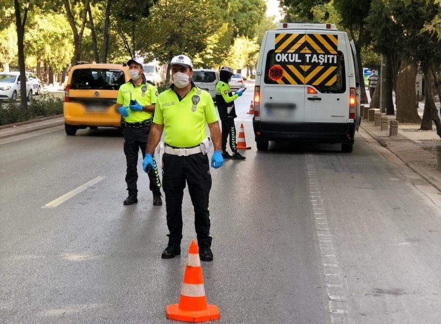 Konya'da Öğrenci Servisleri Denetlendi