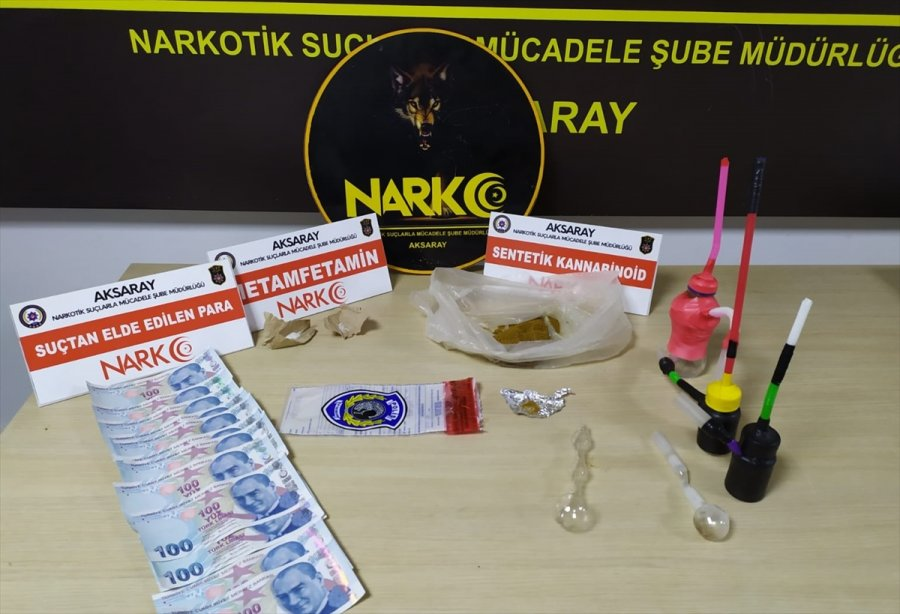 Aksaray'da Koltuk Değneği İçine Gizlenmiş Uyuşturucuyu Narkotik Köpeği Buldu