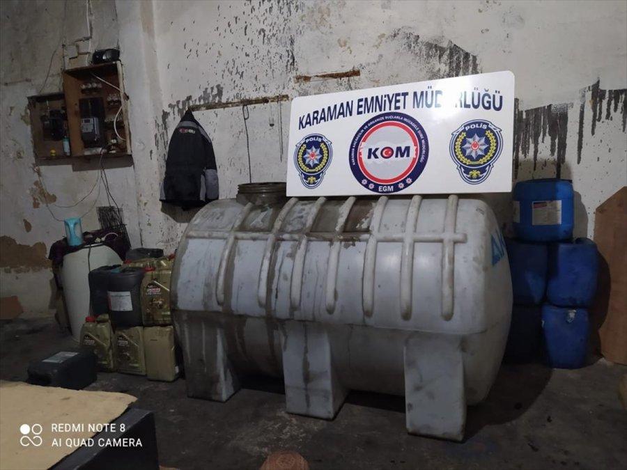 Karaman'da 9 Bin Litre Kaçak Akaryakıt Ele Geçirildi