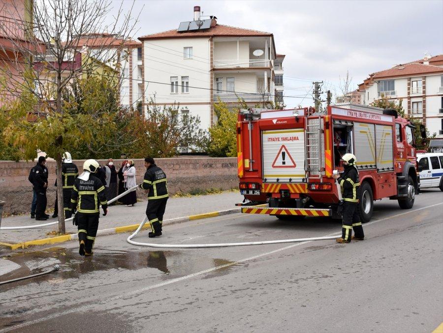 Aksaray'da Benzin Dökülen Sobanın Patlaması Sonucu Çıkan Yangında 5 Kişi Yaralandı