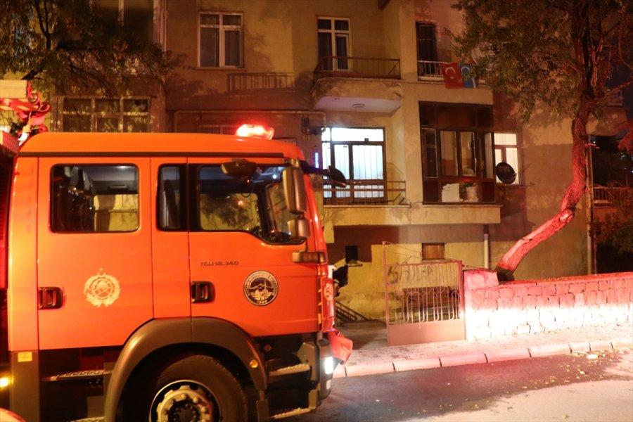 Kayseri'de Bir Apartman Dairesinde Çıkan Yangın Söndürüldü