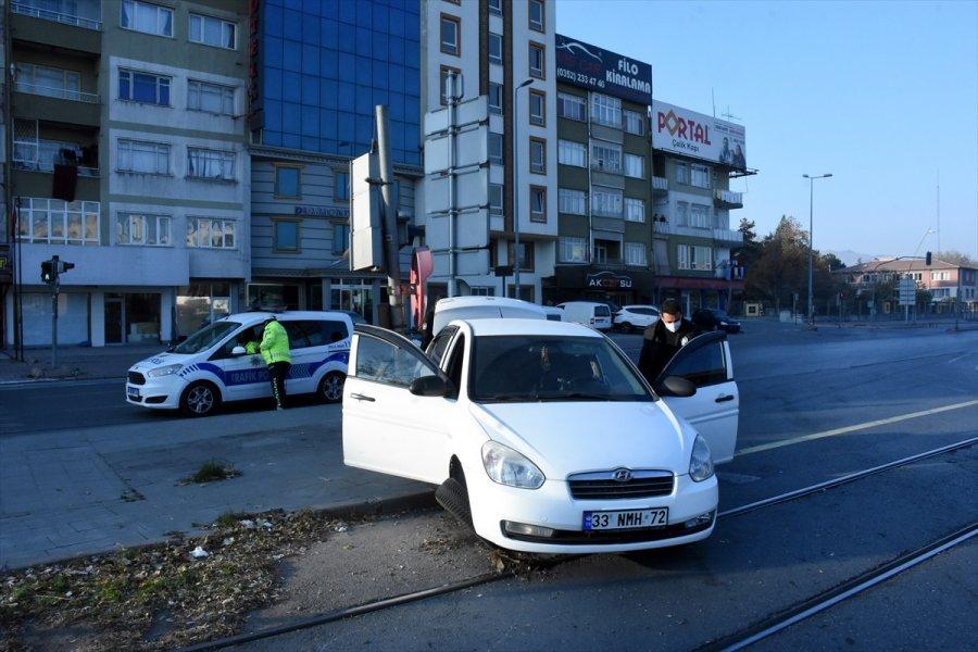 Kayseri'de Sokağa Çıkma Kısıtlamasına Uymayan Sürücü Kovalamaca Sonucu Yakalandı