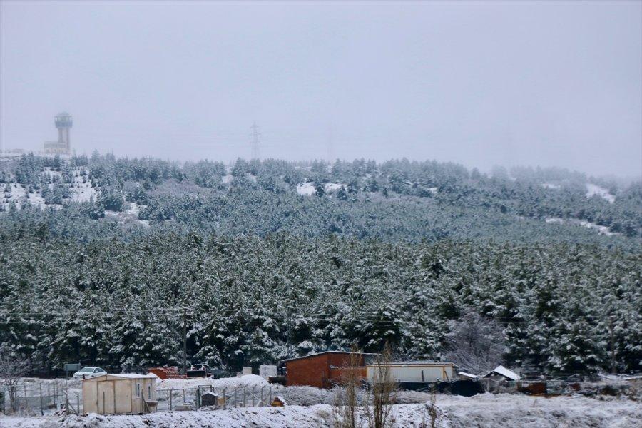 Eskişehir, Kütahya Ve Balıkesir'de Yılın İlk Kar Yağışı