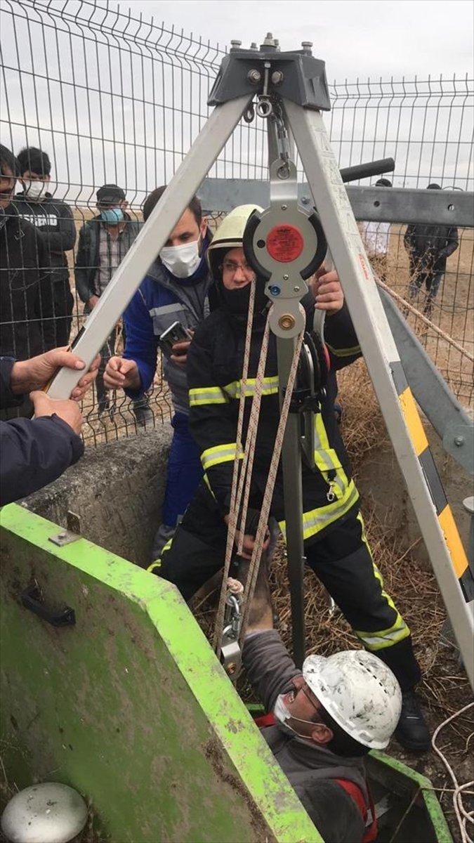 Kayseri'de Foseptiğe Düşen İşçiyi İtfaiye Kurtardı