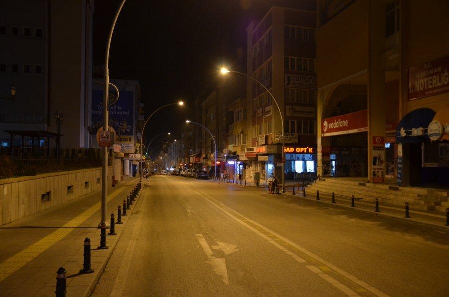 Konya, Karaman, Aksaray Ve Afyonkarahisar'da Sokağa Çıkma Kısıtlamasına Uyuluyor