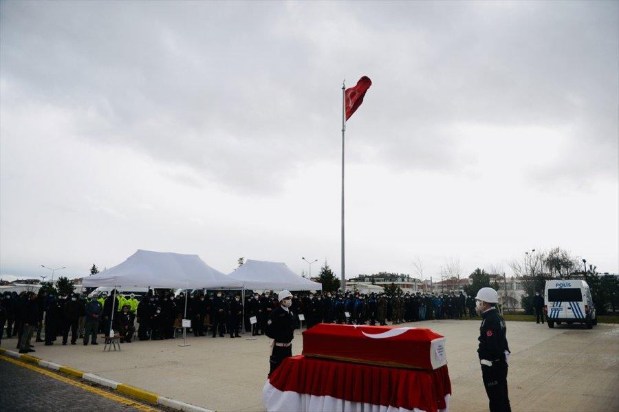 Eskişehir'de Hayatını Kaybeden Polis Memuru İçin Tören Düzenlendi