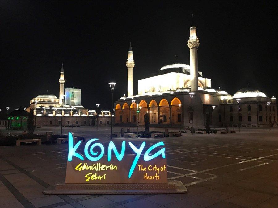 Konya, Karaman, Aksaray Ve Afyonkarahisar'da Sokağa Çıkma Kısıtlaması Sessizliği